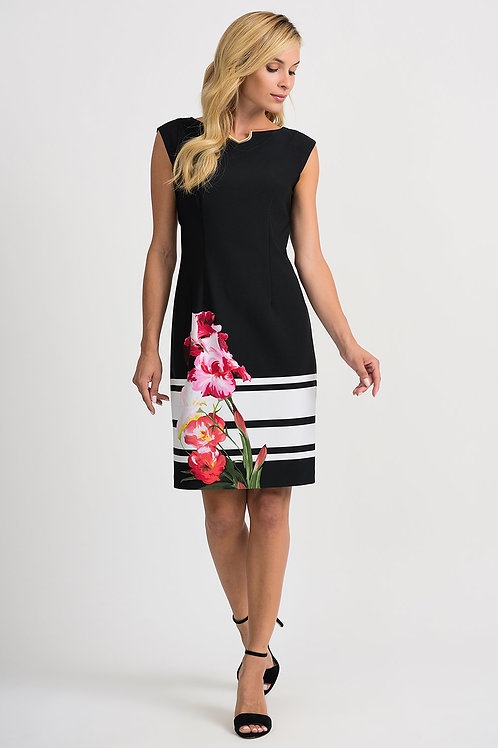 Joseph Ribkoff Black/Multi Dress #201643
