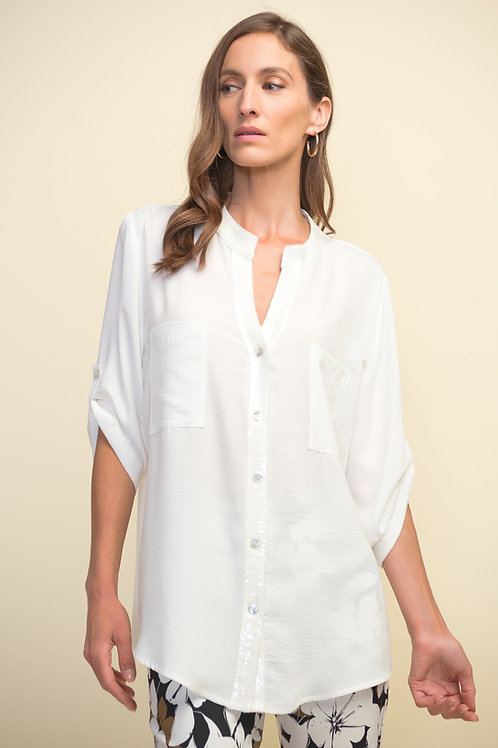 Ribkoff2 Colors Blouse White .Navy Style 211170