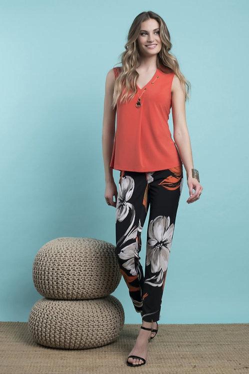 Frank Lyman Black/Orange Pants Style 216182