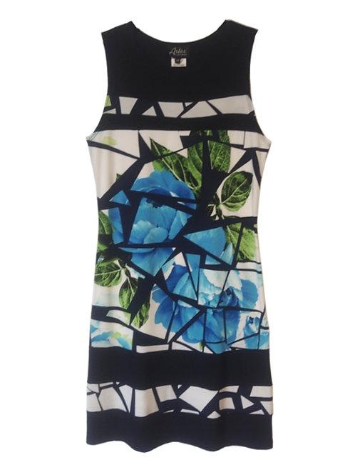Artex Navy/Multi Dress #56050