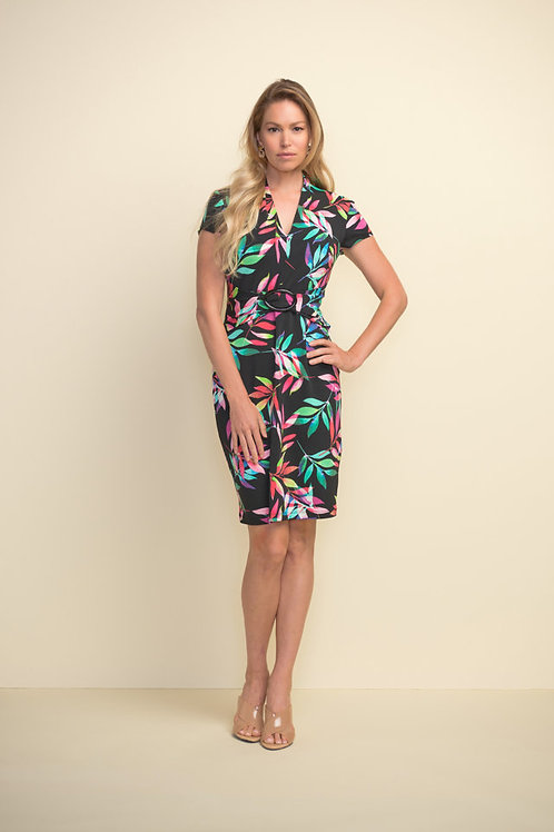 Joseph Ribkoff Black/Multi Dress Style 211349