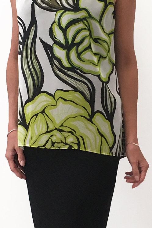 Robe Imprimée Noire/Blanc/Lime Frank Lyman #196702