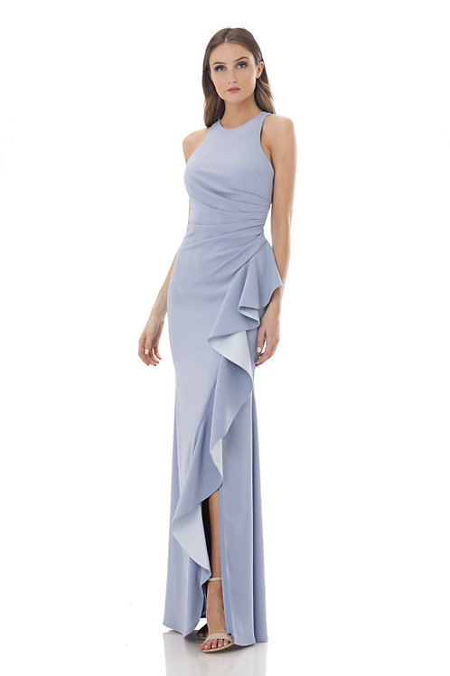 Carmen Marc Val Blue Long Dress #661375