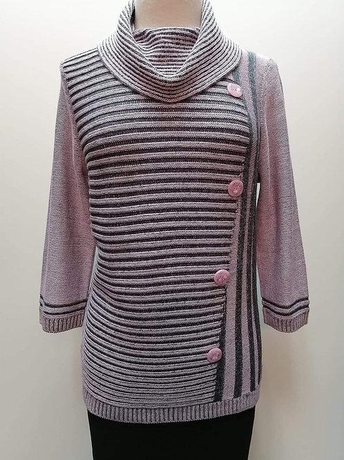 Emelie Pink/Black Sweater Style 5118