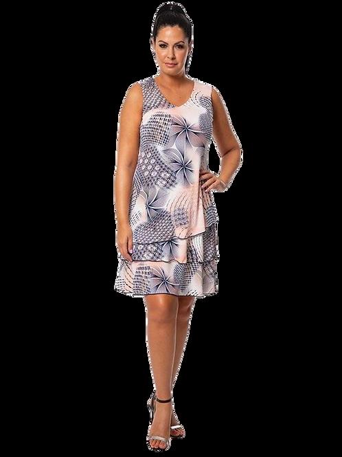 Bali Peach/Navy Dress Style 7182