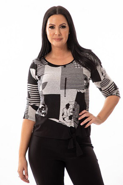 Bali Black/Grey Top Style 7342