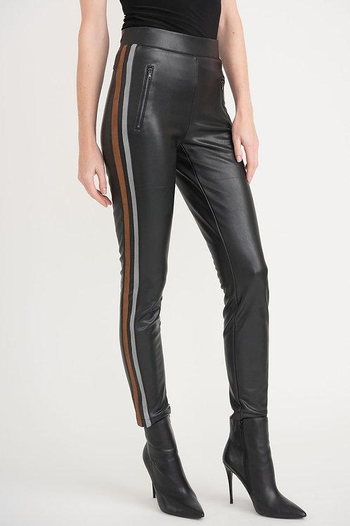 Joseph Ribkoff Faux Leather Black/Brown/Grey Pants Style 203535