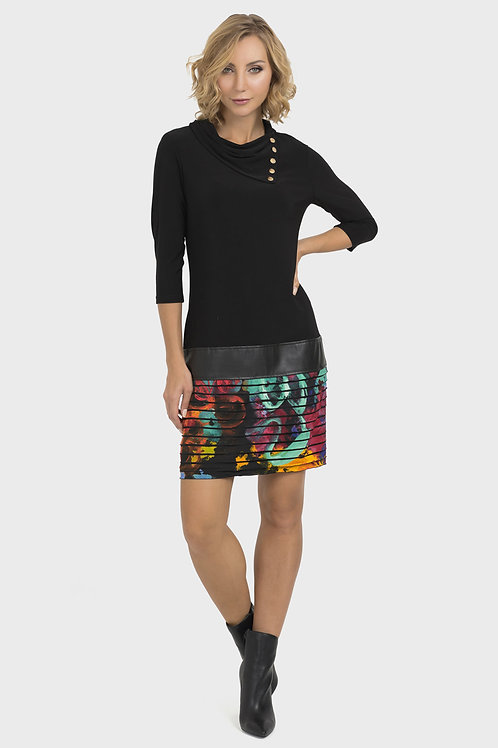 Joseph Ribkoff Black/Multi Dress #193656