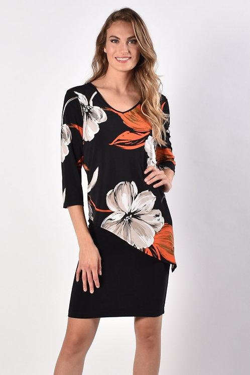 Frank Lyman Black/Orange Dress Style 216181