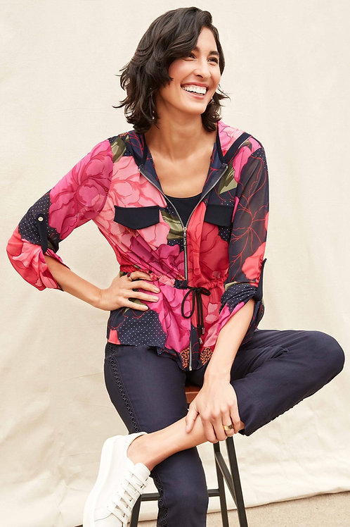 Ribkoff Navy/Pink/Multi Two Piece Top Style 211213