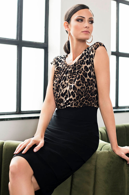 Frank Lyman Black/Leopard Dress #194683