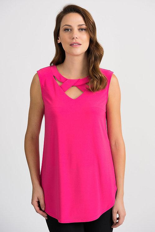 Joseph Ribkoff Hyper Pink Top #201284