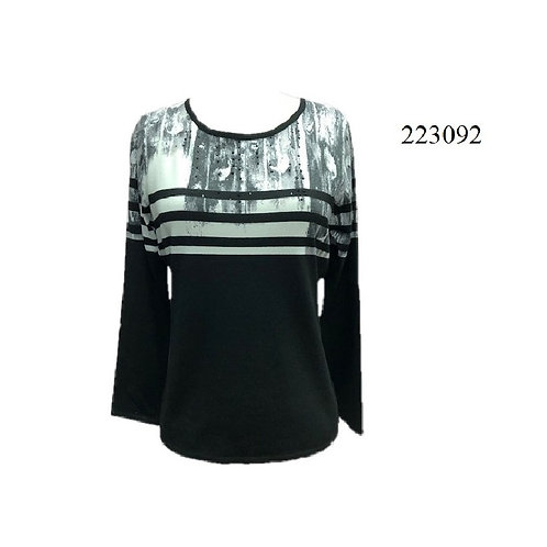 Beta Black/Grey Light Sweater Style 223092