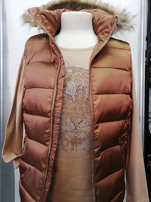 Orly Bronze Sleeveless Vest Style 10714