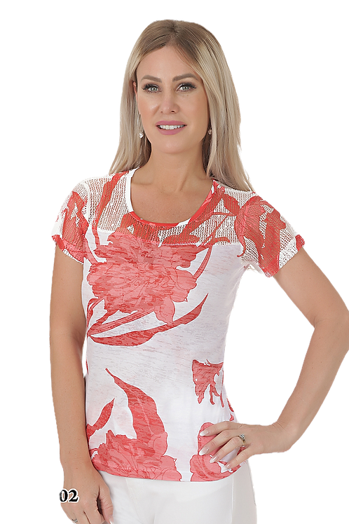Ness Off White/Coral Top Style N87302