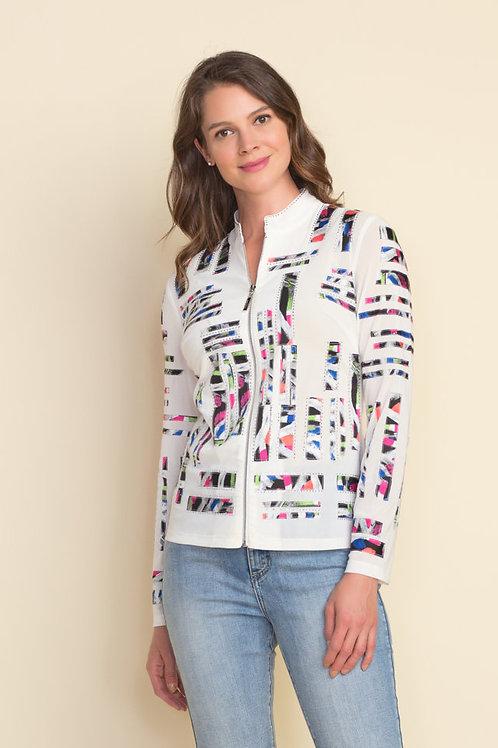 Joseph Ribkoff Vanilla/Multi Jacket Style 212917