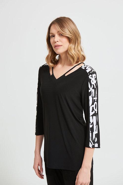 Joseph Ribkoff Black/White Top Style 213568