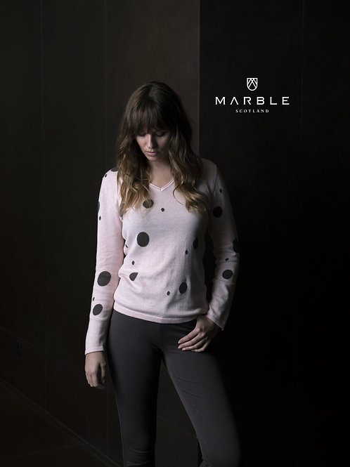 Marble Pink/Brown Sweater Style 5882