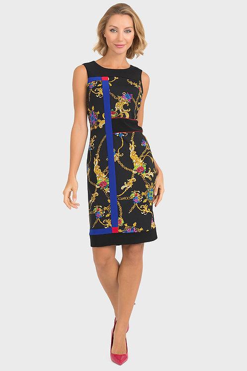 Joseph Ribkoff Black Multi Dress #193677