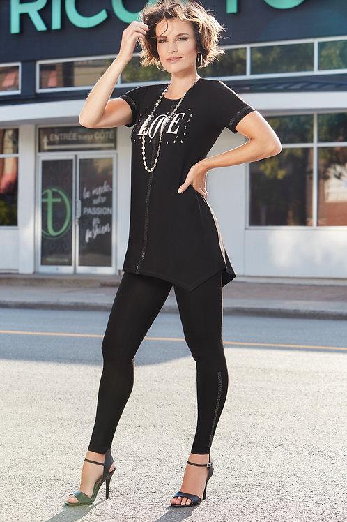 Tricotto Black/White Tunic Style 468