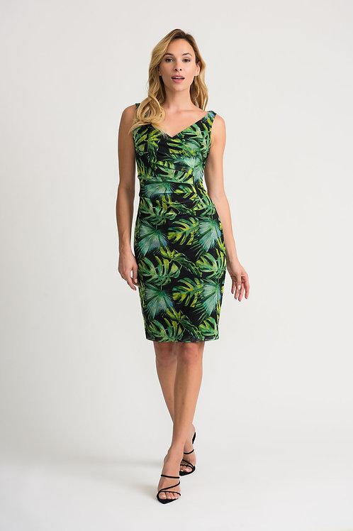 Joseph Ribkoff Black/Green Dress #202302