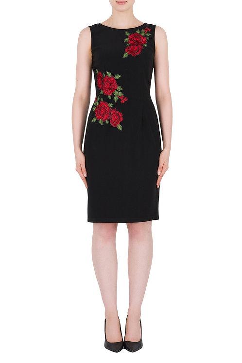 Joseph Ribkoff Black/Red Dress #184013