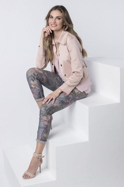 Frank Lyman Floral/Grey Reversible Jeans Style 216110U