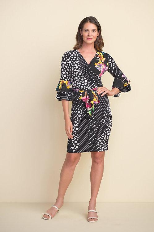 Joseph Ribkoff Black/Multi Dress Style 212190