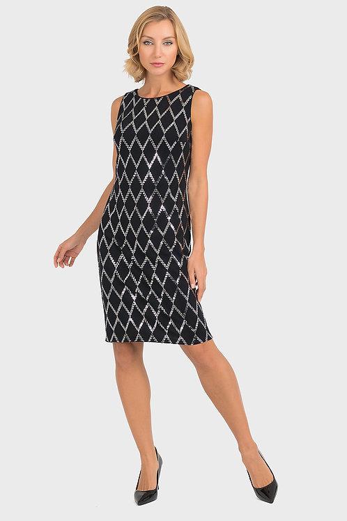 Joseph Ribkoff Black/Silver Dress #193796