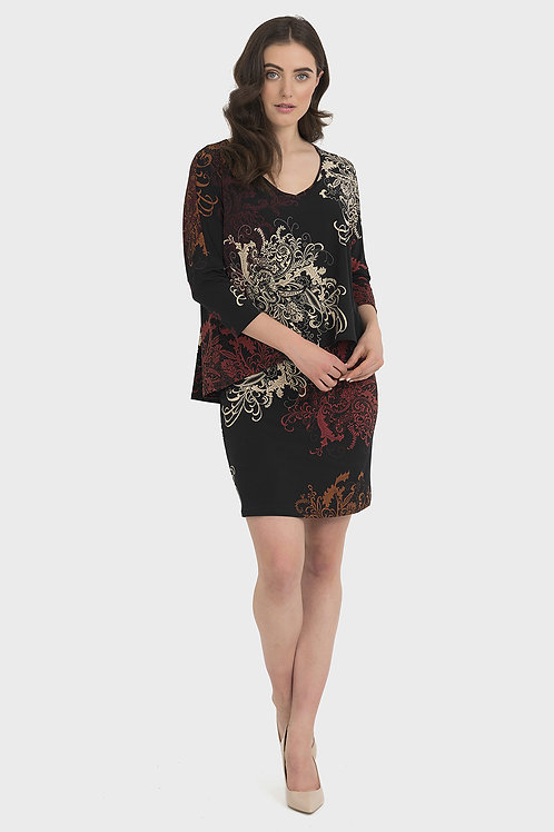 Joseph Ribkoff Black/Multi Dress #194668