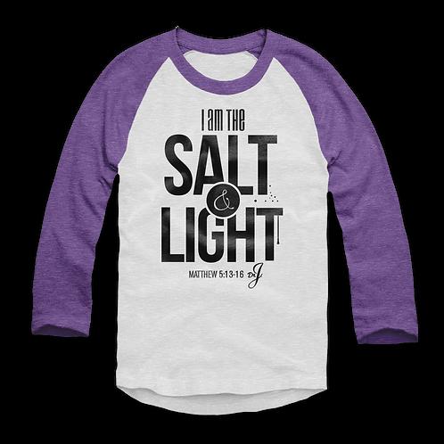 Salt and Light - Raglan (Purple Sleeves)