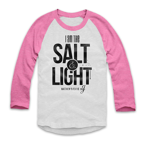 Salt and Light - Raglan (Pink Sleeves)