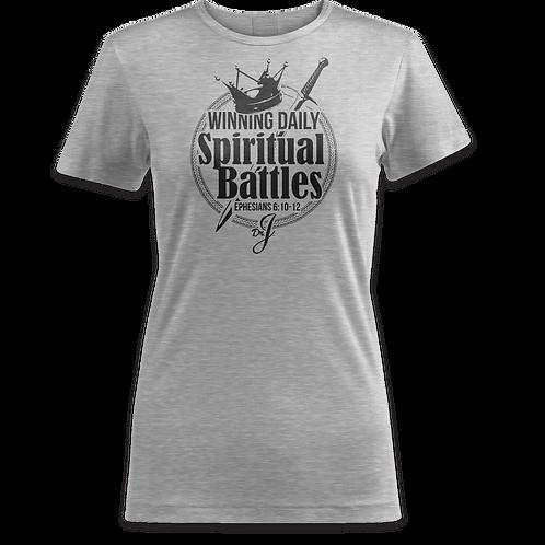 Winning Spiritual Battles (Women's Sports Gray)