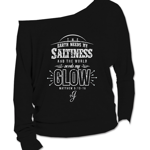 Saltiness and Glow (Long Sleeve Boatneck Black)