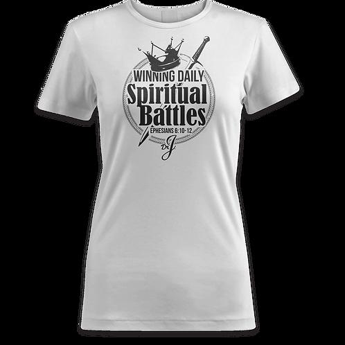 New Winning Spiritual Battles (Women's White)