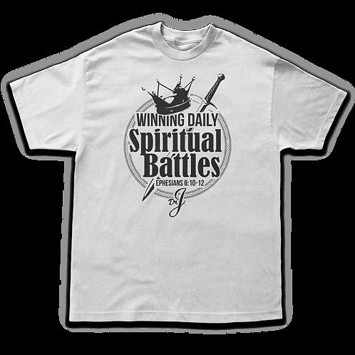 Winning Daily Spiritual Battles (Men's White)
