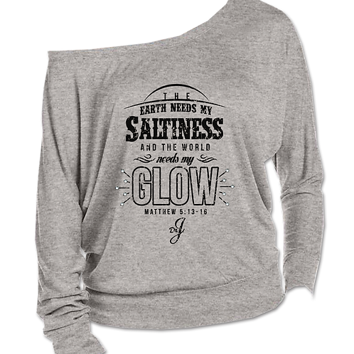 Saltiness and Glow (Long Sleeve Boatneck Sports Gray)
