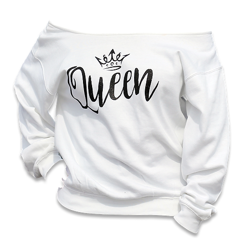 "White ""Queen"" Sweatshirt"