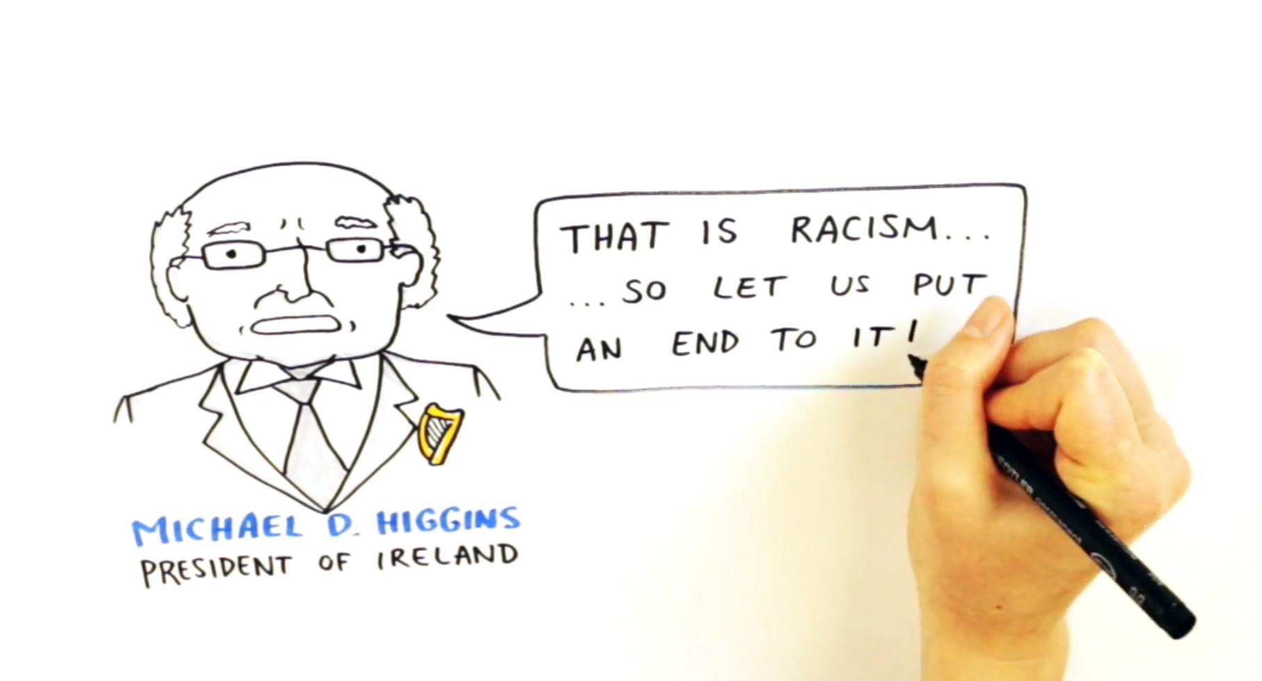 Michael D Higgins Graphic Recording