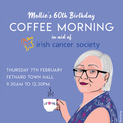 mollie's coffee morning poster