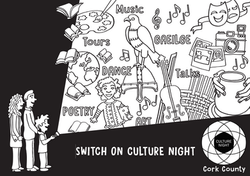 Culture Night Colouring Page
