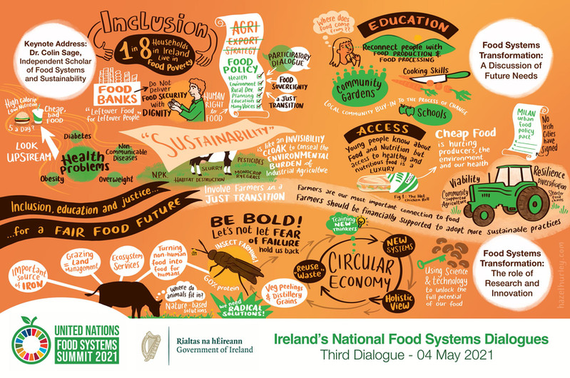 Food systems dialogue 3 graphic recordin