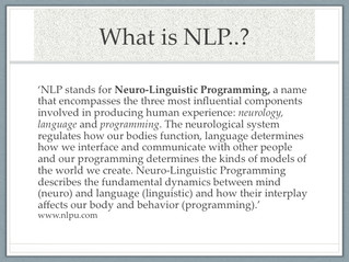 NLP - the human experience