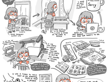 Comic: Day in the Life of an Illustrator