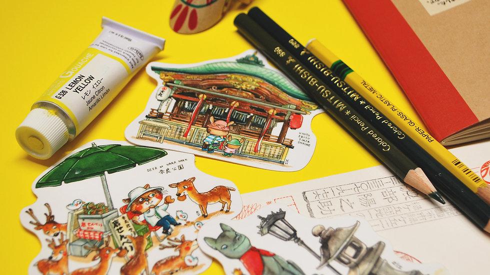 Vinyl Sticker Set - Japan Travel