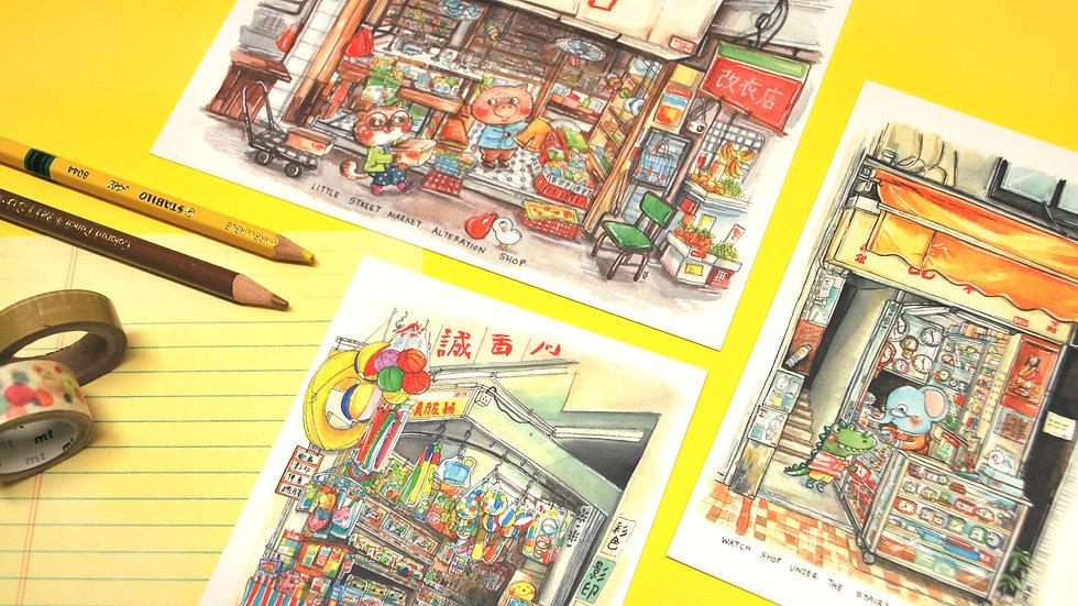Postcard Set - Hong Kong
