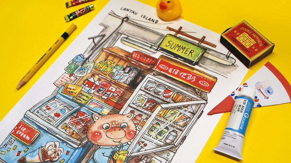 Fine Art Print - Convenience Store