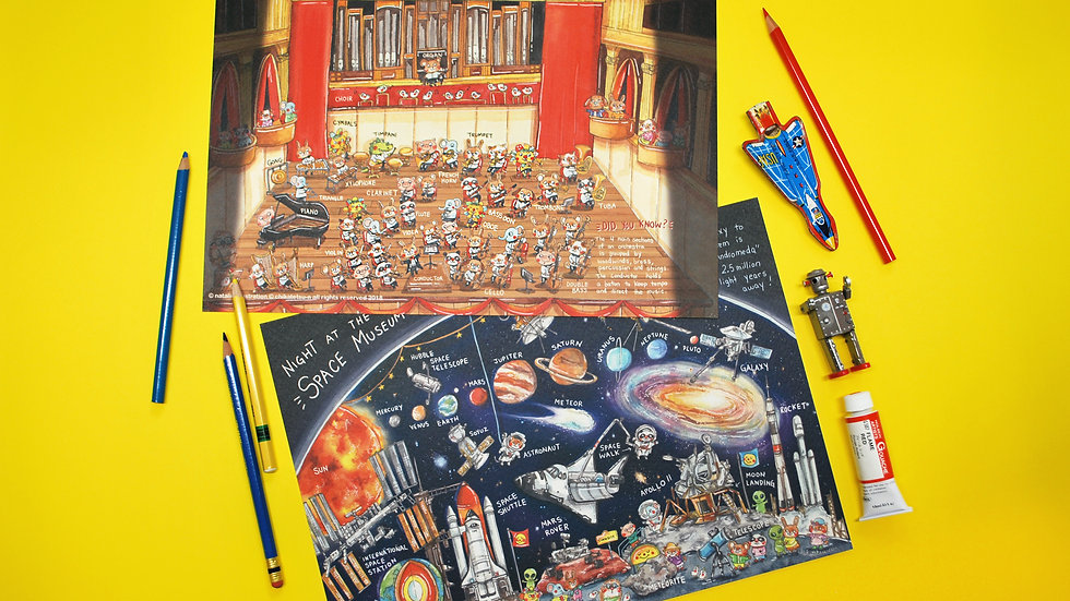 Encyclopedia Poster Set - Space + Orchestra