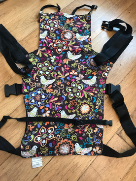 Connecta baby carrier - birds of norway pattern