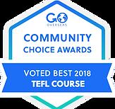 Awarded Best TEFL Course Worldwide